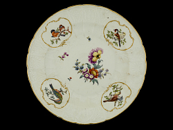 Meissen plate (one of a pair)