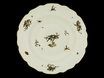 Meissen soup plate: one of a pair