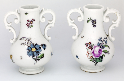 Meissen miniature vase: one of a pair