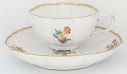 Meissen cup and saucer (part of a service)