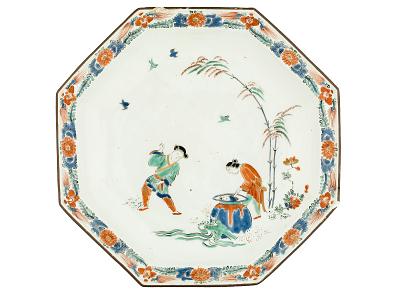 Meissen octagonal dish