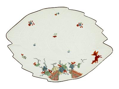 Meissen leaf dish