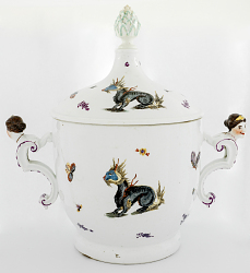 Meissen ice cream pail and cover