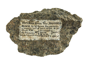 images for Plymouth Rock fragment with painted inscription, 1830-thumbnail 2
