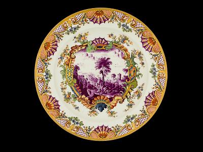 Meissen plate (Hausmaler)