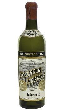 Concannon Vineyards Sherry Wine Bottle