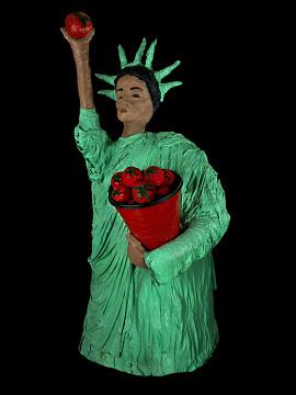 papier-mache statue of liberty