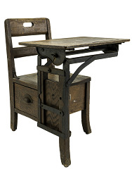 Moulthrop Movable Chair Desk, Manufactured by The Langslow Fowler Company