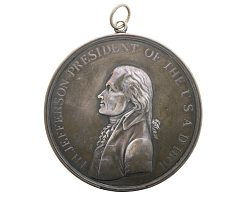 Indian Peace Medal, Thomas Jefferson, United States, 1801
