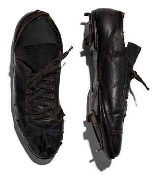 Baseball shoes worn by Jimmie Crutchfield of the Pittsburgh Crawfords