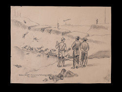 """""""Battery Wagner the Morning Following the Repulse"""" sketch in The True Story of Glory Continues"""