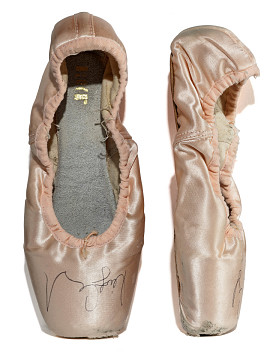 Ballet shoes worn by Misty Copeland