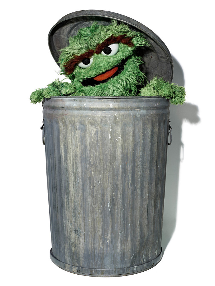 Oscar the Grouch puppet | Smithsonian Institution