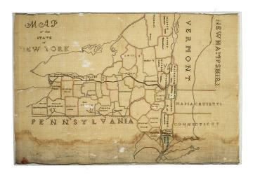 Catalina Juliana Mason's Map Sampler; 1837-1847