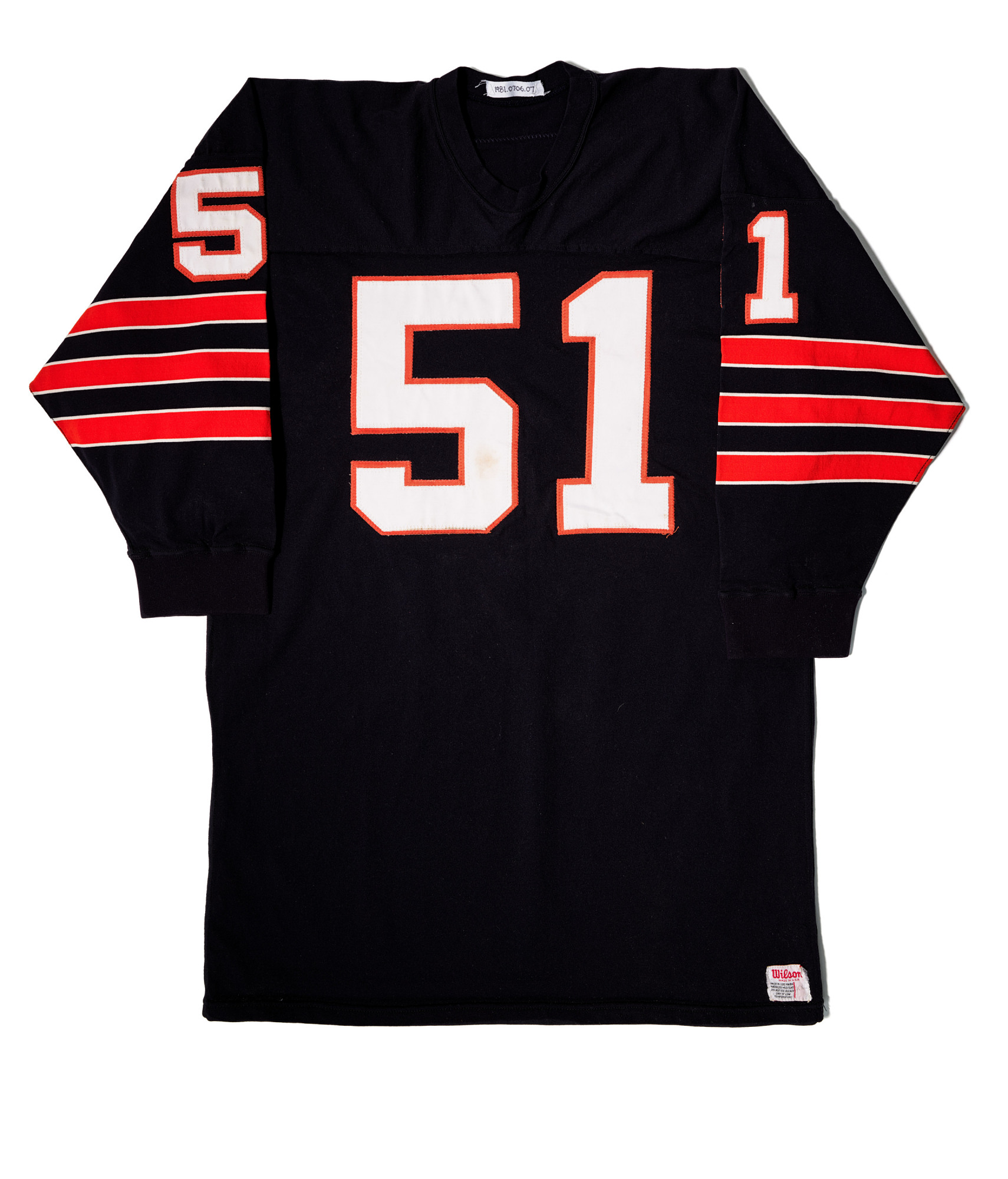 Chicago Bears Football jersey, worn by Dick Butkus | Smithsonian ...