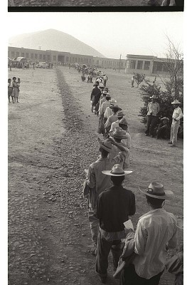 Braceros Waiting in Line