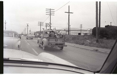 Braceros Driving to Town