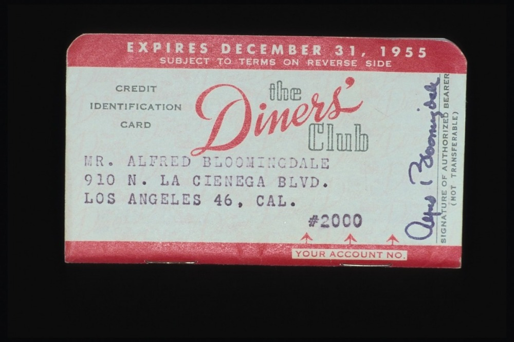 Diners Club Credit Card United States 1955 National Museum Of American History