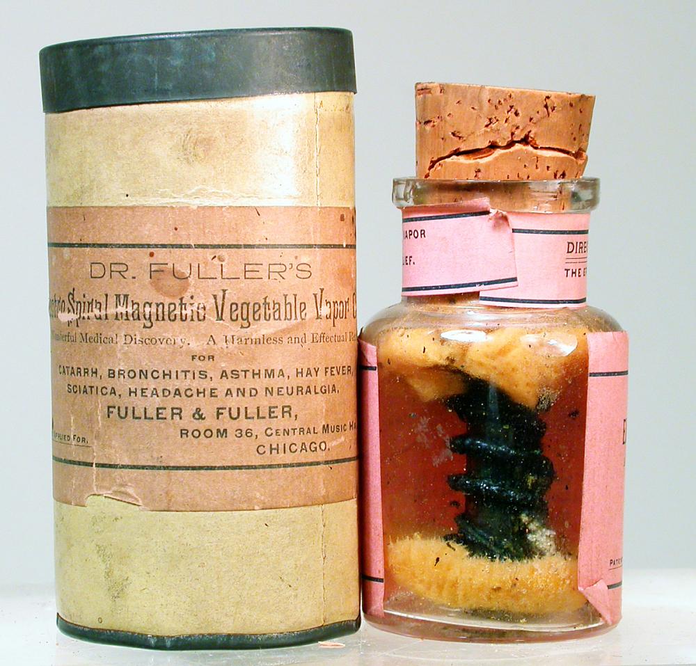 Image result for Dr. Fuller's Electro Spiral Magnetic Vegetable Vapor Cure