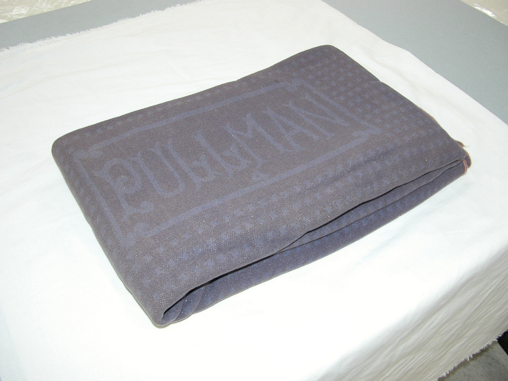 Porter's wool blanket, dyed blue, about 1930