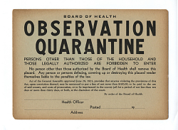 Observation Quarantine - Board of Health