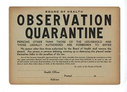 Observation Quarantine - Board of Health