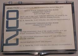 three Tyco Laboratories thermocouples