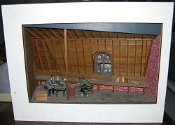 Diorama: Alexander G. Bell's attic workshop