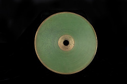 Volta Laboratory Experimental Sound Recording, Green Wax on Brass Disc