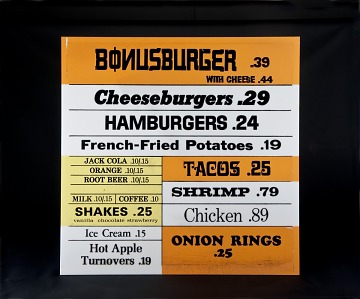 Jack-in-the-Box Drive Through Menu Sign