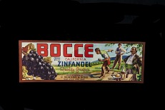 Grape Crate Label, Bocce