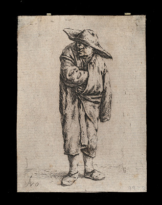 Peasant with his hand inside his cloak