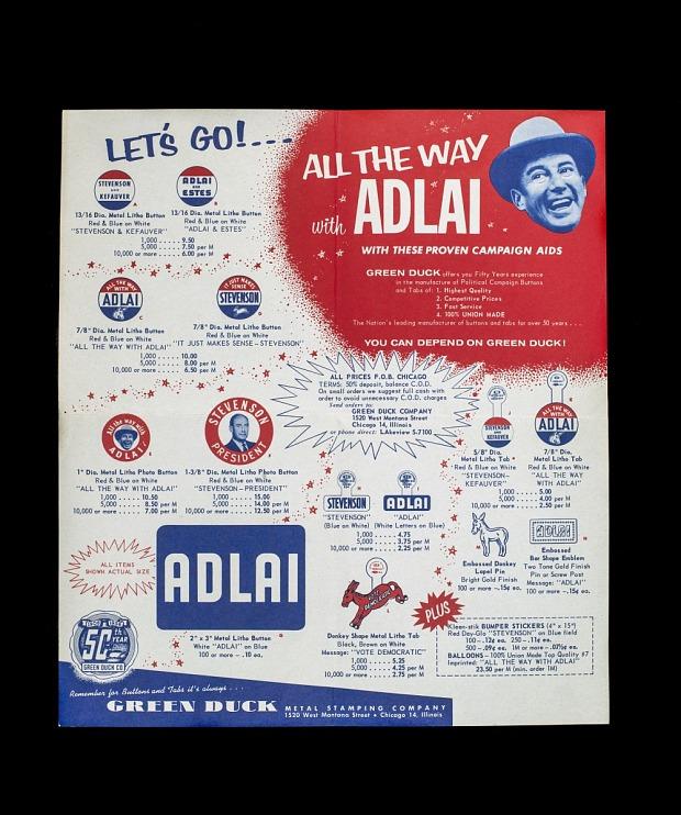 Campaign Trade Literature, 1956