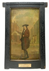 """""""Benjamin Franklin with a Loaf of Bread"""" Engine Panel Painting"""
