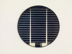 p-type solar cell for terrestrial use
