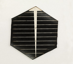 p-type hexagonal solar cell for terrestrial use