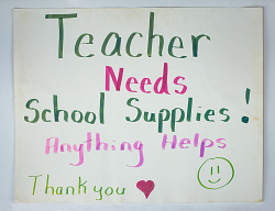 Teacher Needs School Supplies