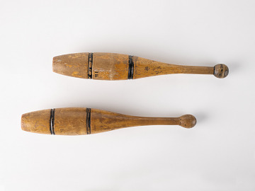 Indian club used by Louis A Zinsmeister