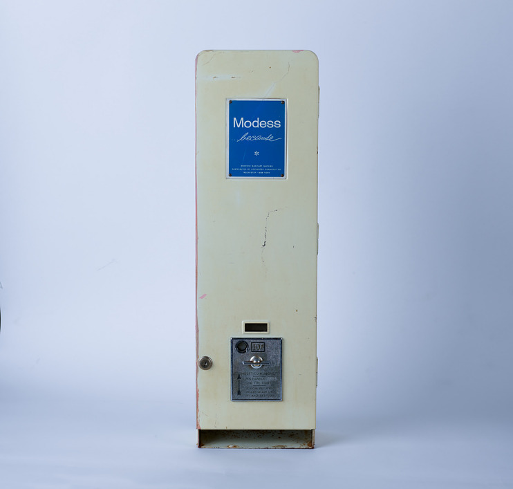 Modess Because Sanitary Napkins Vending Machine