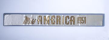 Miss America 1951 sash