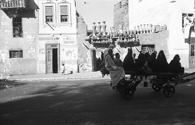 Vernacular tradition of Cairene dwellings on St. George's street, Cairo, Egypt, [negative]