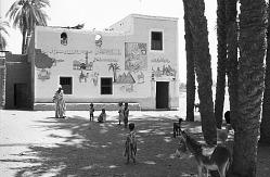 Mural paintings on traditional dwelling. Al Uqsur, Egypt, [negative]