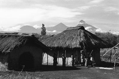 Traditional house among the Nande people, Rutshuru, Congo (Democratic Republic), [negative]