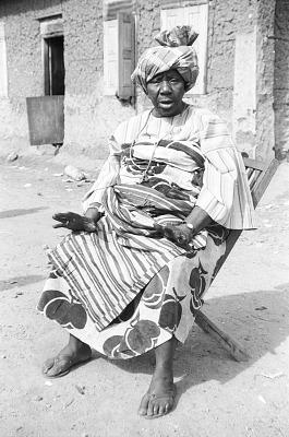 Elderly woman, Ife, Nigeria, [negative]