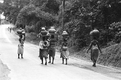 Women on their way to the market, Yoruba region, Nigeria, [negative]