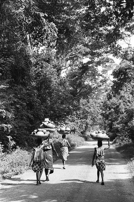 Women on their way to the market, Meko, Nigeria, [negative]