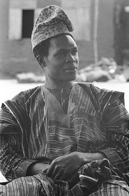 Yoruba man wearing hat, Meko, Nigeria, [negative]
