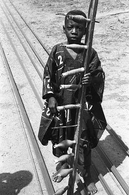 Yoruba weaver, Nigeria, [negative]