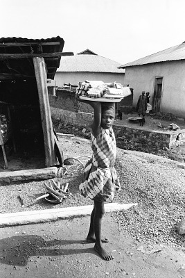 Street vendors, Oshogbo, Nigeria, [negative]