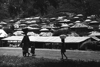Indigenous section of the town, Effon-Alaiye, Nigeria, [negative]